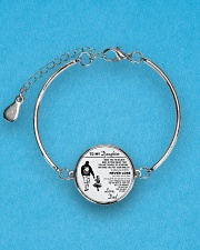 Make it the meaningful message to your daughter Metallic Circle Bracelet aos-bracelet-metal-front-lifestyle-3