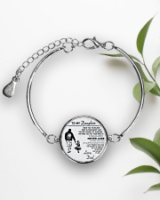 Make it the meaningful message to your daughter Metallic Circle Bracelet aos-bracelet-metal-front-lifestyle-4