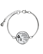 Make it the meaningful message to your daughter Metallic Circle Bracelet front