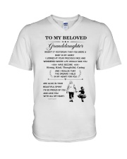 the meaningful message to your granddaughter V-Neck T-Shirt thumbnail