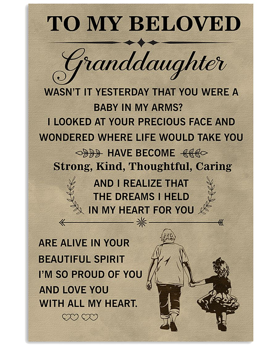 the meaningful message to your granddaughter 11x17 Poster