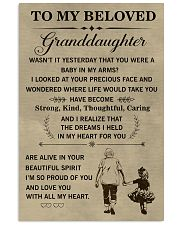 the meaningful message to your granddaughter 11x17 Poster front