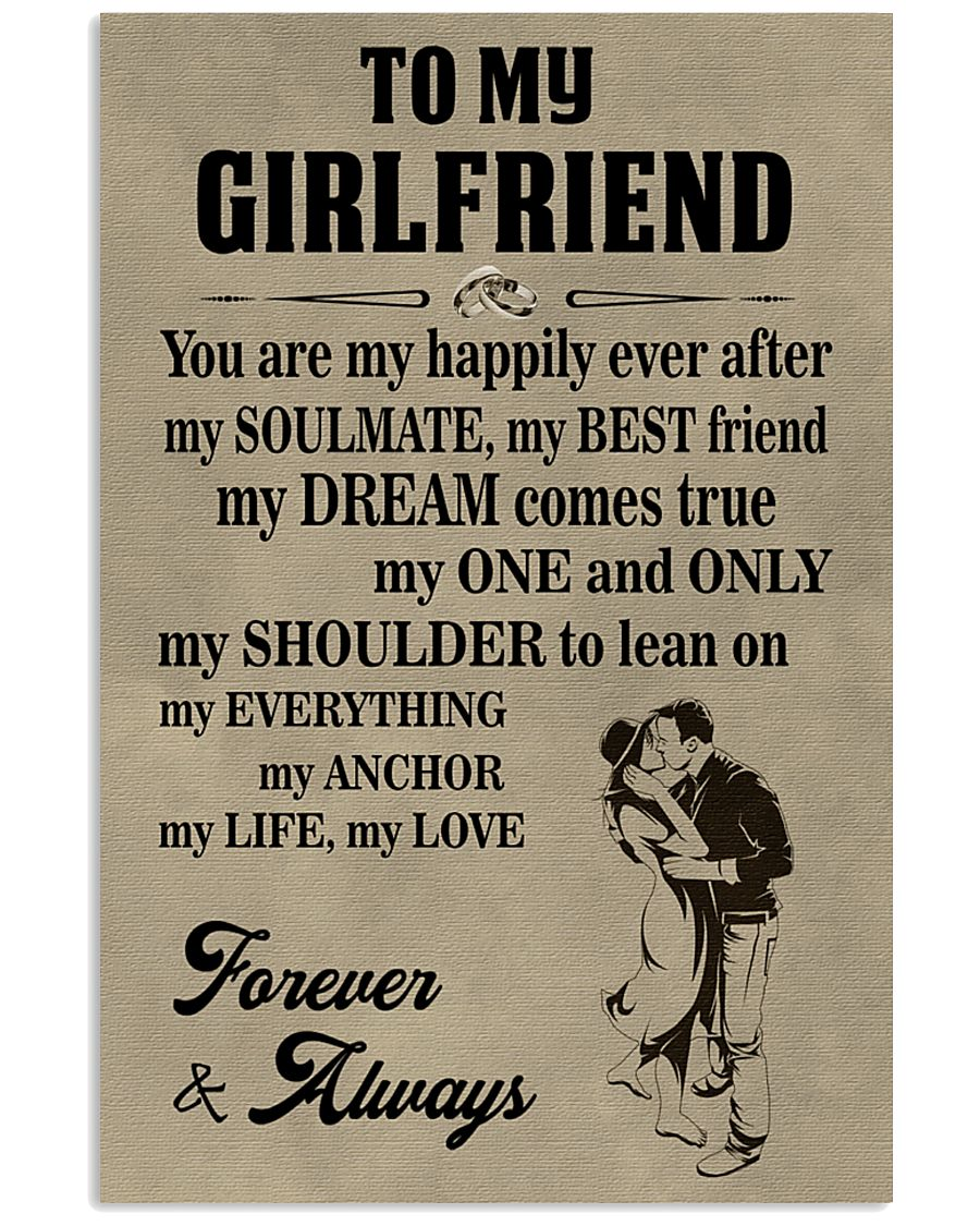 Make it the meaningful message to your girlfriend 11x17 Poster