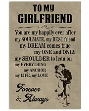 Make it the meaningful message to your girlfriend 11x17 Poster front