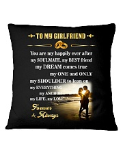 Make it the meaningful message to your girlfriend Square Pillowcase thumbnail
