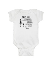 Make it the meaningful message to your son Onesie tile