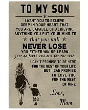 Make it the meaningful message to your son 16x24 Poster front