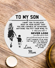 Make it the meaningful message to your son Circle Coaster aos-coaster-round-front-lifestyle-1