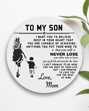 Make it the meaningful message to your son Circle Coaster aos-coaster-round-front-lifestyle-6