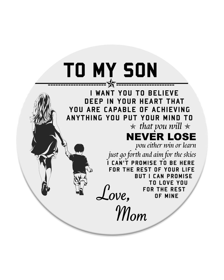 Make it the meaningful message to your son Circle Coaster