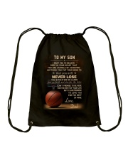 The meaningful message to your son -Basketball Drawstring Bag thumbnail