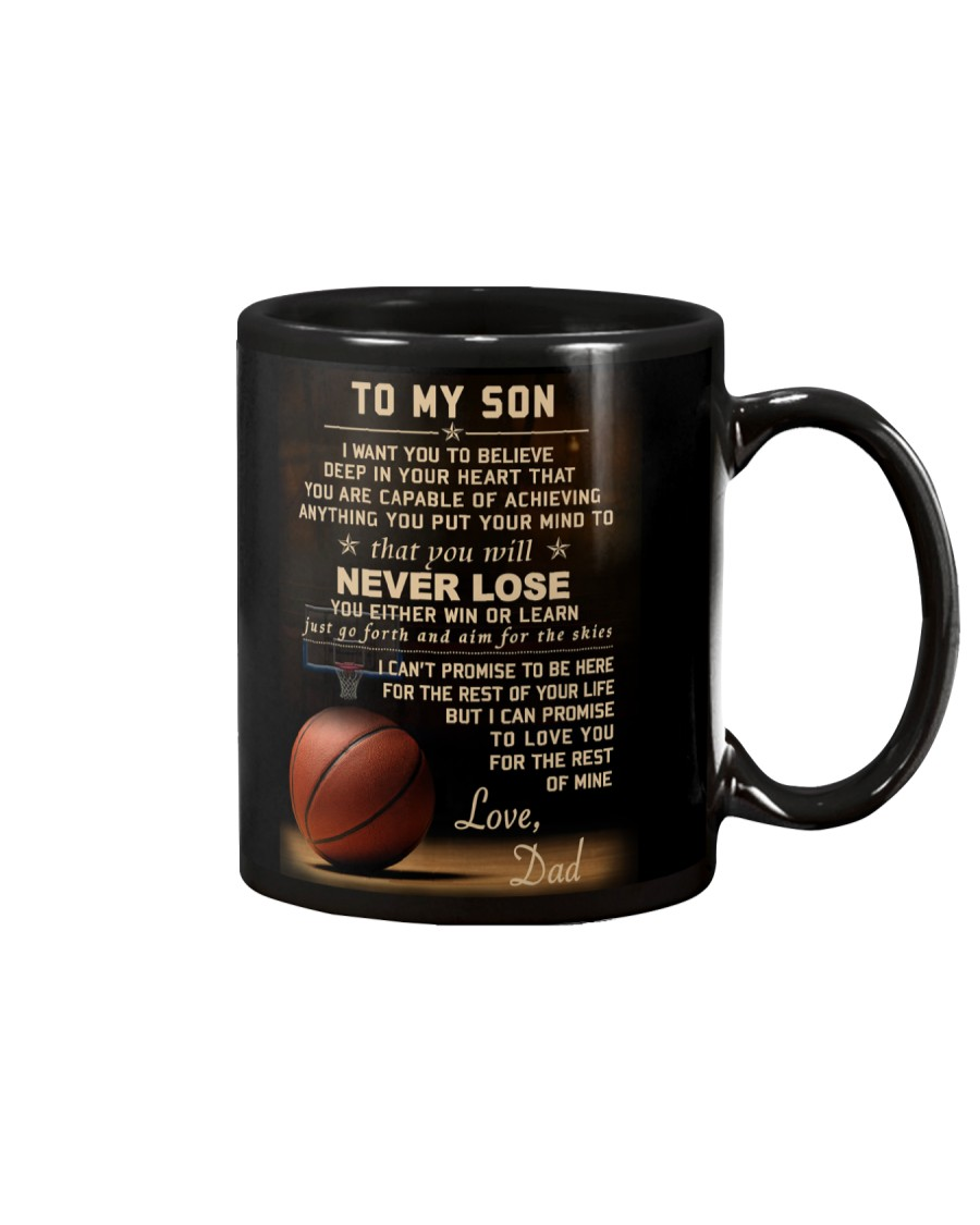 The meaningful message to your son -Basketball Mug