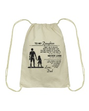 Make it the meaningful message to your daughter Drawstring Bag thumbnail
