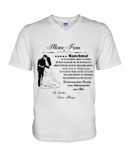 Make it the meaningful message to your wife DE V-Neck T-Shirt thumbnail