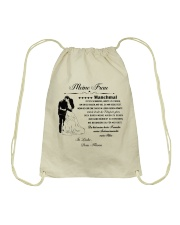 Make it the meaningful message to your wife DE Drawstring Bag thumbnail