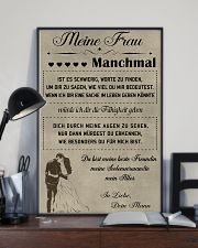 Make it the meaningful message to your wife DE 11x17 Poster lifestyle-poster-2