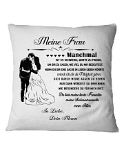 Make it the meaningful message to your wife DE Square Pillowcase thumbnail