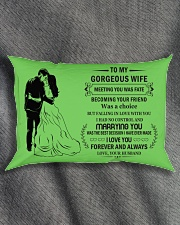 Make it the meaningful message to your Wife Rectangular Pillowcase aos-pillow-rectangle-front-lifestyle-1
