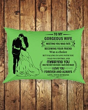 Make it the meaningful message to your Wife Rectangular Pillowcase aos-pillow-rectangle-front-lifestyle-2