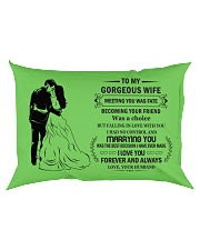Make it the meaningful message to your Wife Rectangular Pillowcase back