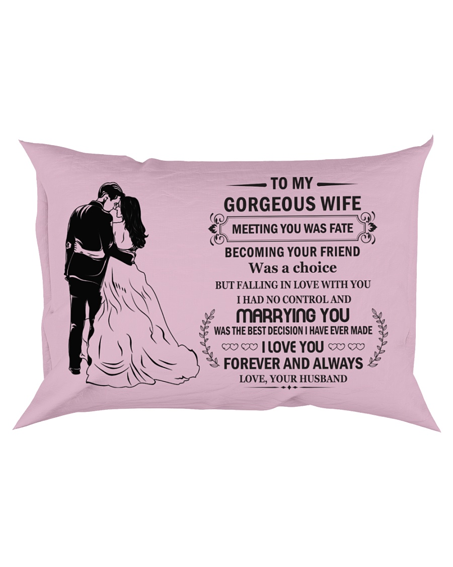Make it the meaningful message to your Wife Rectangular Pillowcase showcase