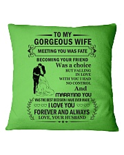 Make it the meaningful message to your Wife Square Pillowcase front