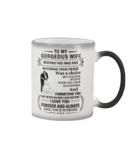 Make it the meaningful message to your Wife Color Changing Mug color-changing-right