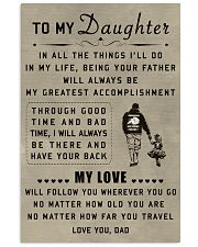 make it the meaningful message to your daughter 11x17 Poster thumbnail