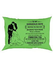 Make it the meaningful message to your Wife Rectangular Pillowcase front