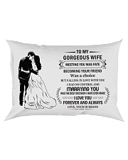 Make it the meaningful message to your Wife Rectangular Pillowcase tile