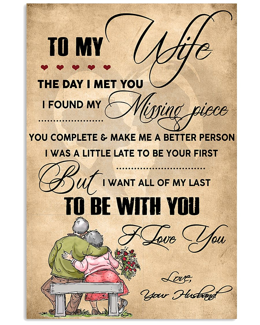 H13 Family poster - Husband to wife - I love you 11x17 Poster