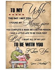H13 Family poster - Husband to wife - I love you 11x17 Poster front
