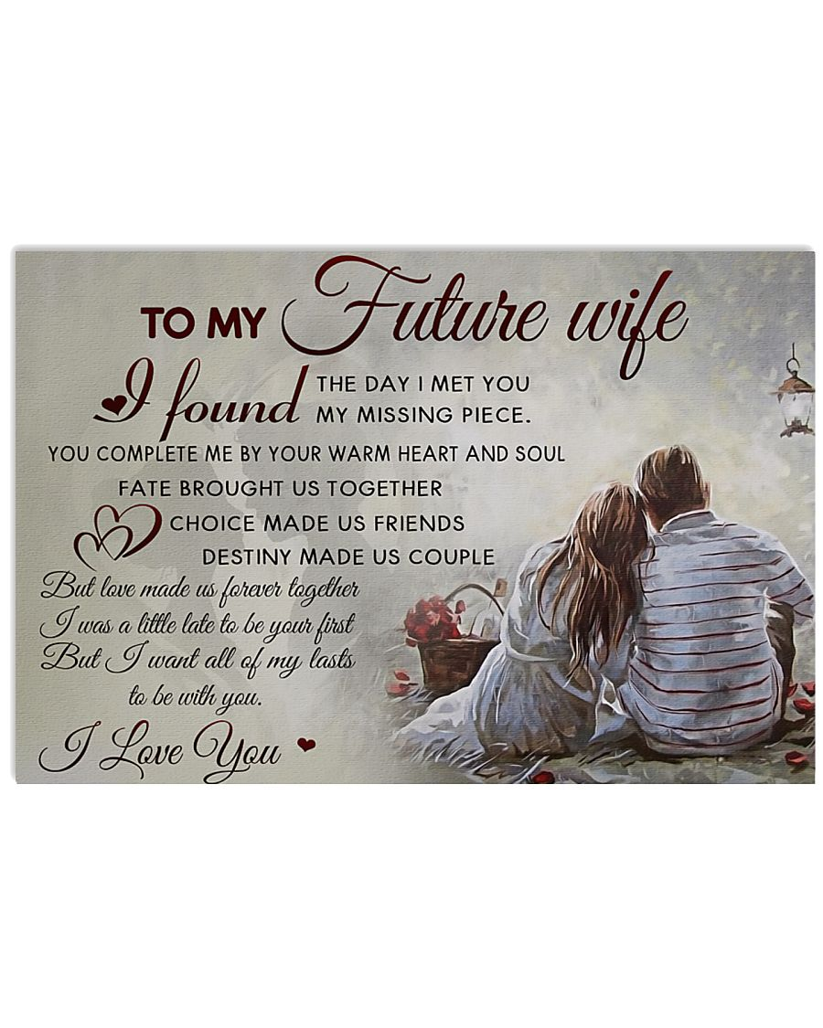 H30 Family poster - To my future wife - I love you 17x11 Poster