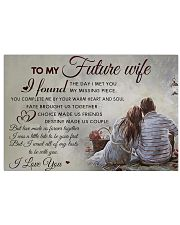 H30 Family poster - To my future wife - I love you 17x11 Poster front
