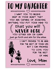 Make it the meaningful message to your daughter 16x24 Poster front