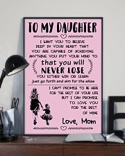 Make it the meaningful message to your daughter 16x24 Poster lifestyle-poster-2