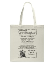 Make it the meaningful message to granddaughter Tote Bag thumbnail