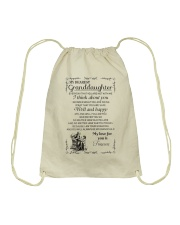 Make it the meaningful message to granddaughter Drawstring Bag thumbnail