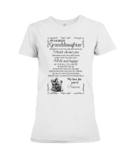 Make it the meaningful message to granddaughter Premium Fit Ladies Tee thumbnail