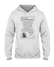 Make it the meaningful message to granddaughter Hooded Sweatshirt thumbnail