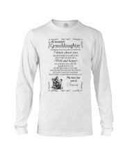 Make it the meaningful message to granddaughter Long Sleeve Tee thumbnail