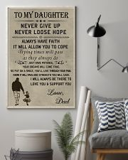 Make it the meaningful message to your daughter 11x17 Poster lifestyle-poster-1