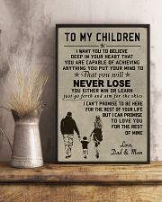Make it the meaningful message to your children 11x17 Poster lifestyle-poster-3