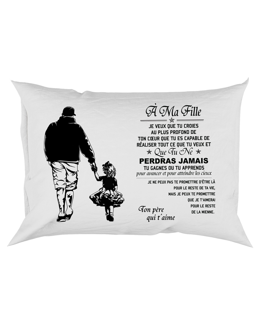 Make it the meaningful message to your daughter Rectangular Pillowcase