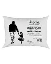 Make it the meaningful message to your daughter Rectangular Pillowcase tile