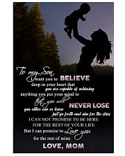 H9 Family poster - Mom to son - Never lose 11x17 Poster front