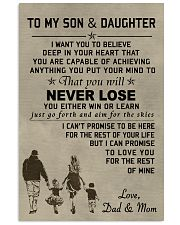 A meaningful message to your son and daughter 11x17 Poster front
