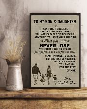 A meaningful message to your son and daughter 11x17 Poster lifestyle-poster-3