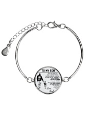 A meaningful message to your son and daughter Metallic Circle Bracelet thumbnail
