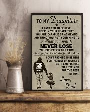 Make it the meaningful message to your daughters 11x17 Poster lifestyle-poster-3